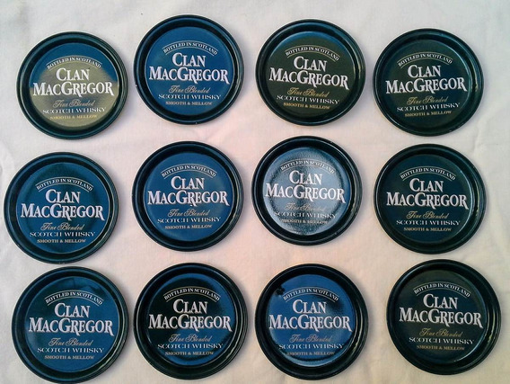 3 Juegos De 12 Posavasos Whisky Clan Mcgregor Detodounpoco
