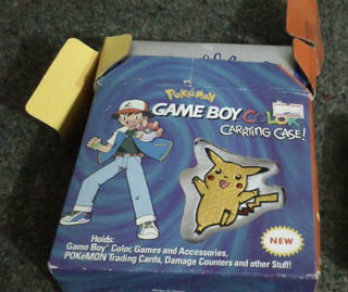 Pokemon Game Boy Color Nintendo Bolso Morral En Caja