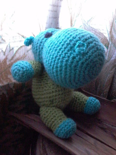 Peluches Muñecos Tejidos.a Crohet .hipopótamo.amigurumis.