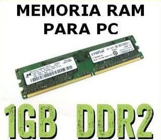 Memorias Ram Ddr2 De 1gb Para Torre