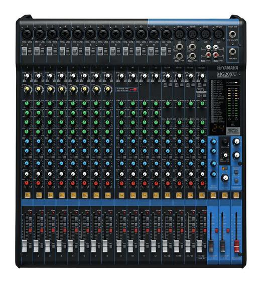 Mixer Yamaha Mg20xu Consola Profesional Con Efectos Lucespro
