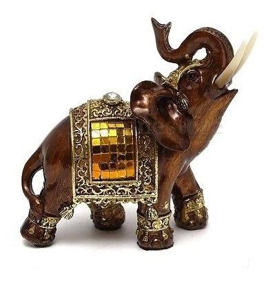 Feng Shui 4,7 Elefante Elegante Tronco Estatua Riqueza Suer