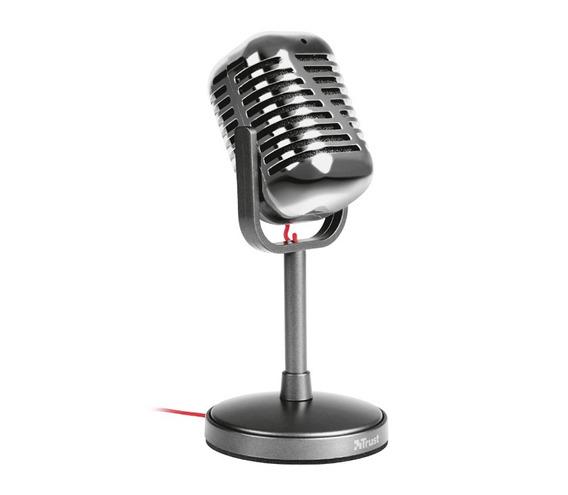 Microfono Trust Elvii Vintage Base Adaptador 3.5 Ajustable