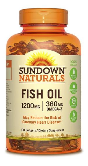 Vitamina Sundown Fish Oil 1200 Mg 100 Cápsulas