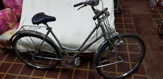 Bicicleta Monark Línea Plata Antigua