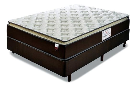 Somier 2 Plazas Resorte Espuma Ortopedico Extra Firme Pillow