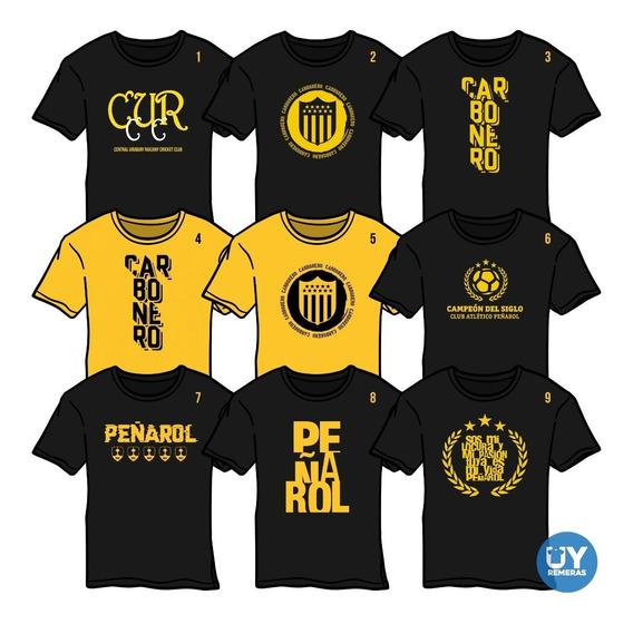 Remeras Peñarol Carbonero Talles S Al Xxxl - Uy Remeras