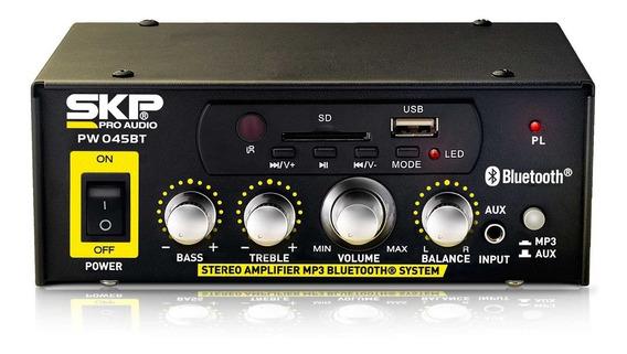 Amplificador Skp Modelo Pw-045 Stereo 180 Watts Pico Usb Bt