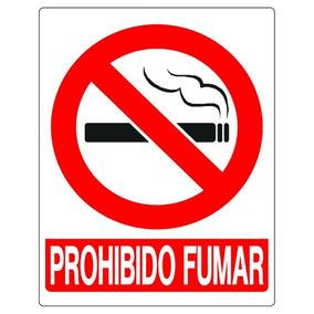 Cartel / Letrero Prohibido Fumar 15x19cm