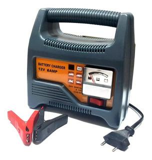 Cargador Bateria 12v 6amp Con Amperimetro