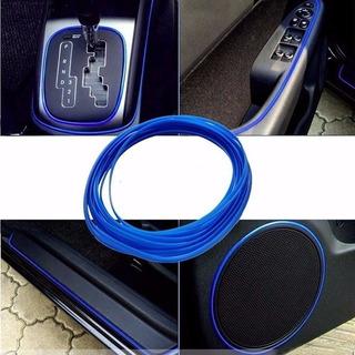 Linea Decorativa Autoadhesiva Tuning Auto 4mmx1m Azul L42