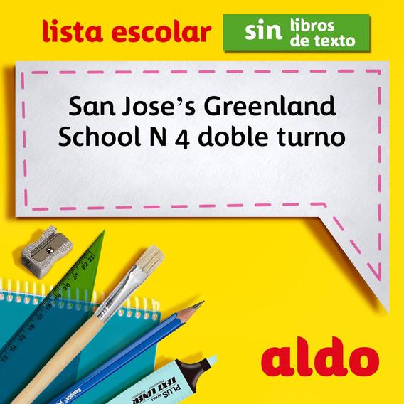 Lista Escolar San Joses Greenland School N 4 Doble Turno