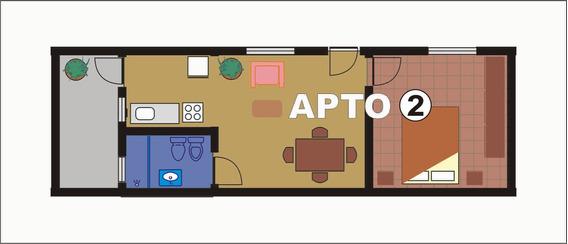 Lindo Apartamento, Baño Nuevo A Estrenar, Techo De Planchada