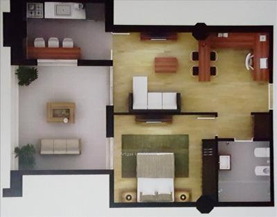 1 Dormitorio A Estrenar