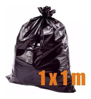 Bolsa De Basura Negra Grande Uso Doméstico 1 X 1 Metro - Tyt