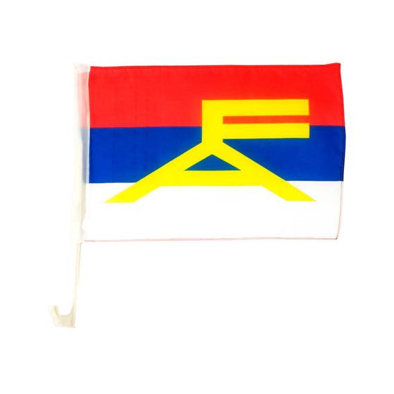 Bandera Frente Amplio Para Auto 30x45cm