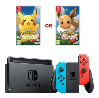 Nintendo Switch 2019 + Pokemos Lets Go + Vidrio Easybuy