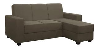 Sofa De 3 Cuerpos Con Extension Chaislong En Tela O Pu Capri