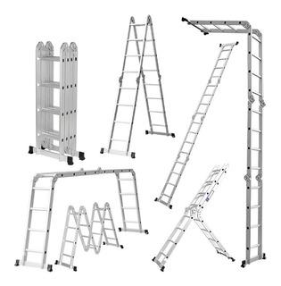 Escalera Andamio Aluminio - 5.8mts 20 Escalones Premium