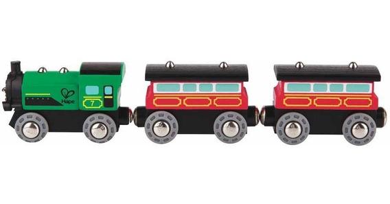 Tren De Pasajeros A Vapor Juguetes 3+ Hape