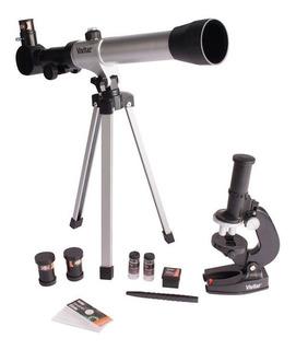 Kit Telescopio Microscopio Trípode Vivitar Viv-telmic-20 Amv