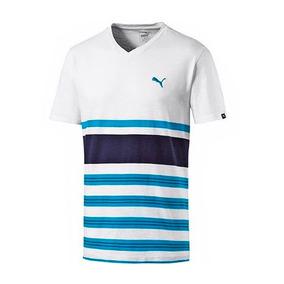 70e381fef Camiseta Puma Remera De Algodón A La Base Escote V De Hombre