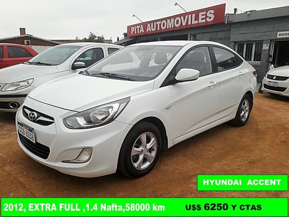 Vendo Financio Hyundai Accent Gl 2013 Extra Full