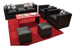 Sillones Minimalista Living Sofa Mesa Y 2 Puf ..