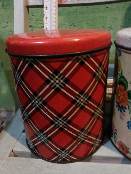 Antiguo Tarro ,lata De Cocina,decoración Vintage,lindas!