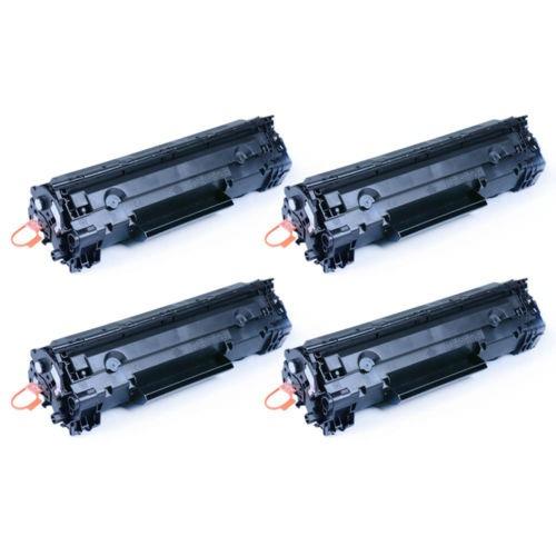 4 Pk Ce278a Toner Negro Cartuchos Para La Impresora De Hp La
