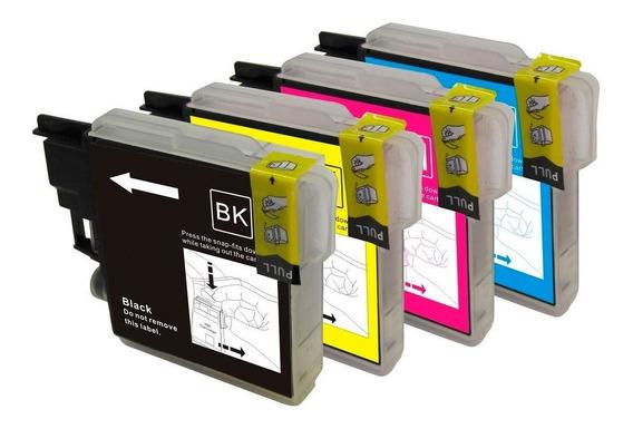 Pack4 Cartuchos Compatible Lc-60 Y 61 Dcp-j125 J140w J410