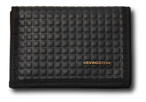 Billetera Cuadrado Negra - Kevingston