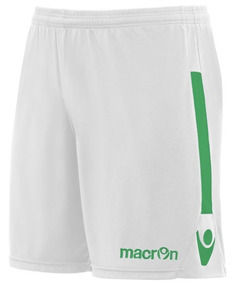 Short De Futbol Modelo Elbe- Blanco Y Verde- Macron