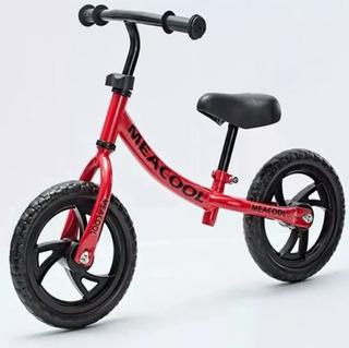 Bicicleta Niños Sin Pedal R12 Roja O Negra Rueda Maciza Pcm