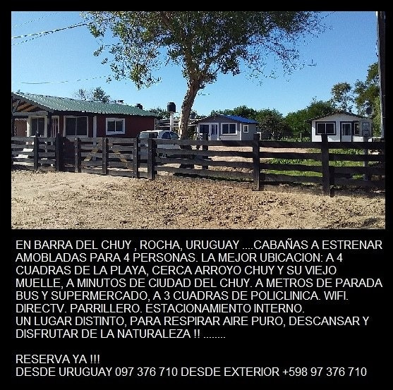 Cabañas En Barra Del Chuy Uruguay