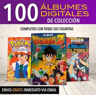 Álbum Digitales Pokemon,dragon Ball, Saint Seiya