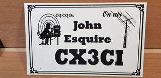 Cartel Personalizado Grabado Con Láser Licencia Radio