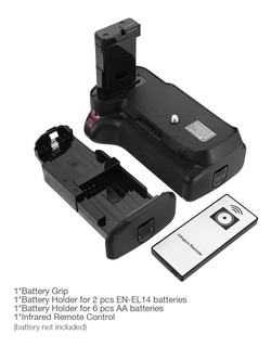 Powerextra Battery Grip + Control Remoto Ir Para Nikon D3400