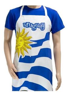 Delantal Bandera De Uruguay / Envío Gratis