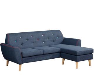 Sofa Varios Cuerpos Sillon En Tela Azul Living Elisa