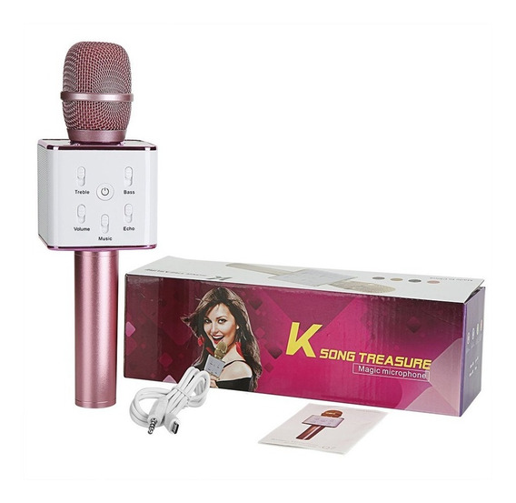 Micrófono Karaoke Bluetooth Parlante Infantil Ios Android