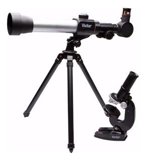 Kit Telescopio Y Microscopio Vivitar 20x 30x 40x Garantia 1