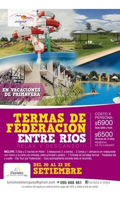 Termas De Federacion/20 Al 22 Setiembre!!!