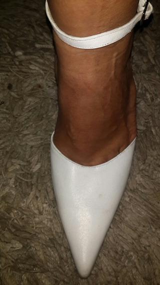 Zapatos Novia O 15 Años !!! 39...40. De Cuero Impecables!!!