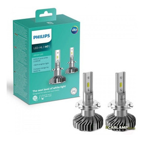Lamparas Led H7 Philips Ultinon 12v 6200k 160% + Luz