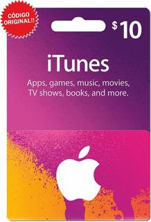 Itunes 10 Dólares Tarjeta Apple iPhone iPad Mac / Gift Card