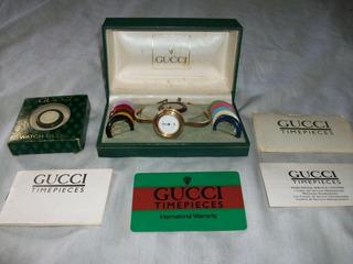 Reloj Oferta X Hoy Gucci 1100-l Orig Baño D Oro Para Reparar