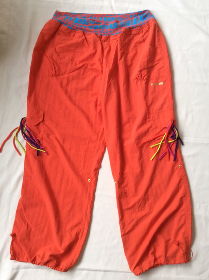 Zumba Pantalon Mujer Náutico Xxl Bolsillos Naranja
