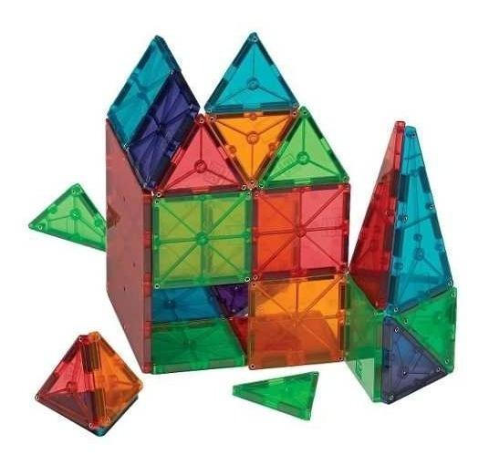 Magnetic Tiles Azulejos Imán Set 60 Piezas Juegos Didácticos