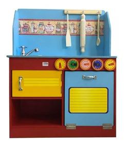 Completa Madera Hts Juguete Super Con Accesorios Cocina RqAc3S54Lj